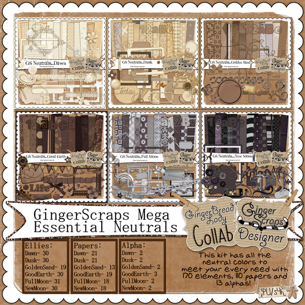 GingerScraps Essential Basics: Neutrals