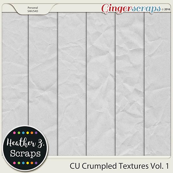 CU Crumpled Textures VOL 1 by Heather Z Scraps