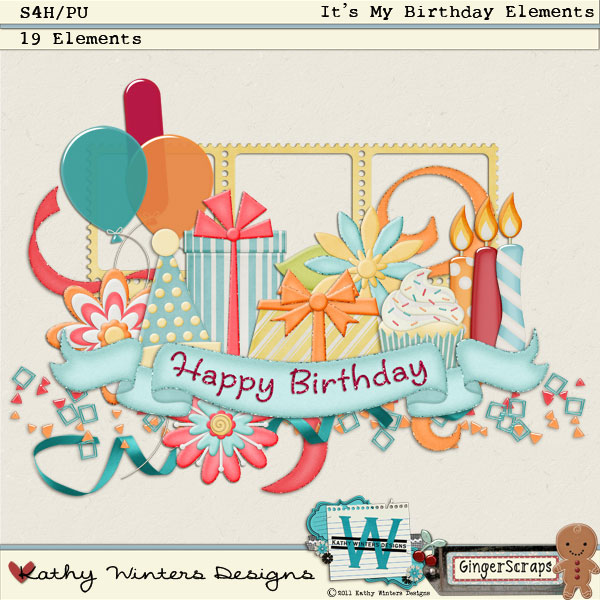 It's My Birthday Elements: by Kathy Winters