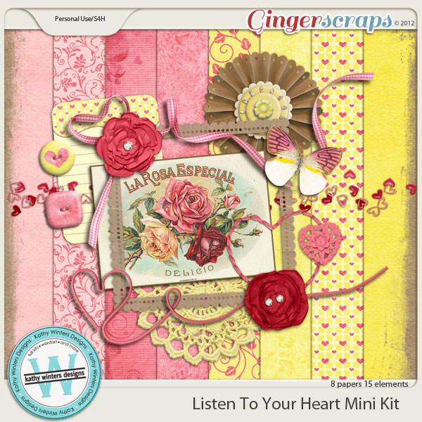 Listen To Your Heart Mini Kit by Kathy Winters Designs 