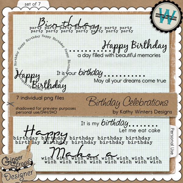 Birthday Celebrations by Kathy Winters Designs