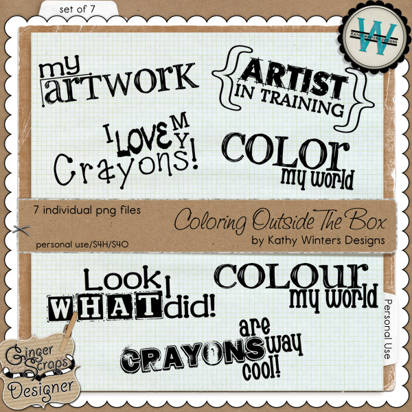 Coloring Outside The Box by Kathy Winters Designs