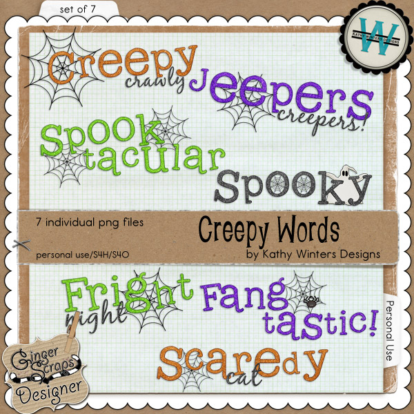 Creepy Words by Kathy Winters Designs