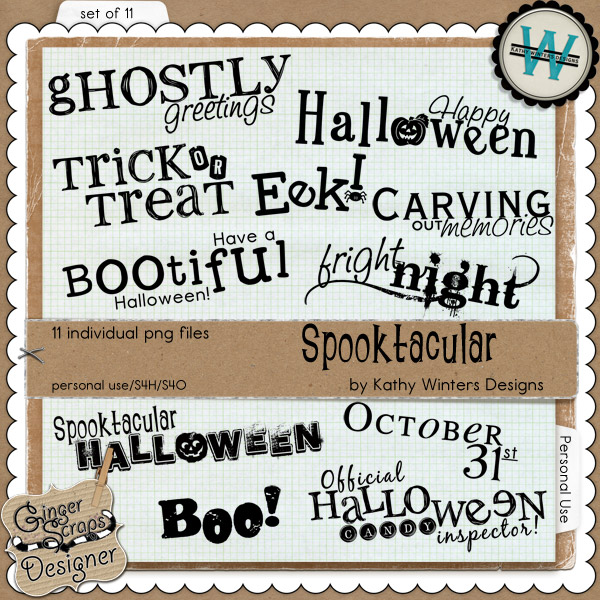 Spooktacular by Kathy Winters Designs