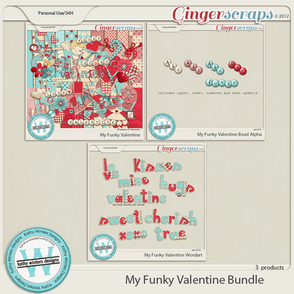 My Funky Valentine Bundle by Kathy Winters Designs