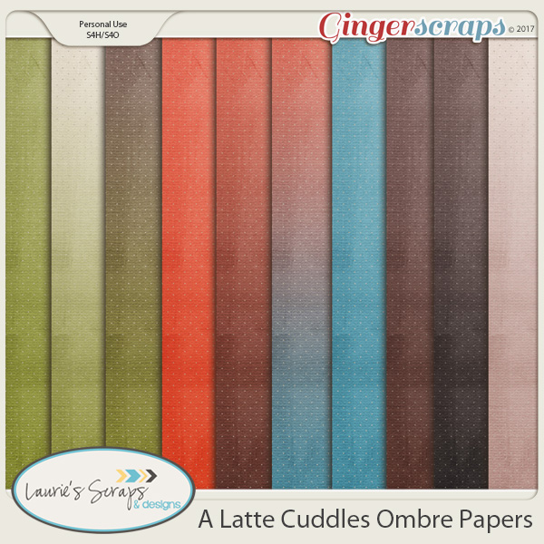 A Latte Cuddles Ombre Papers