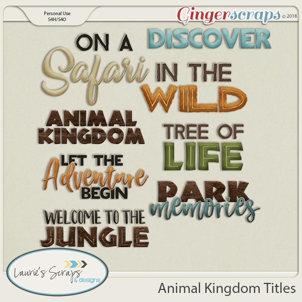 Animal Kingdom Titles