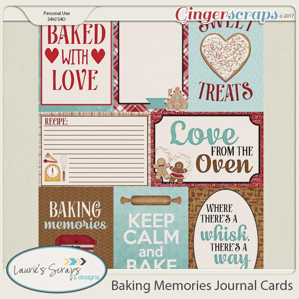 Baking Memories Journal Cards