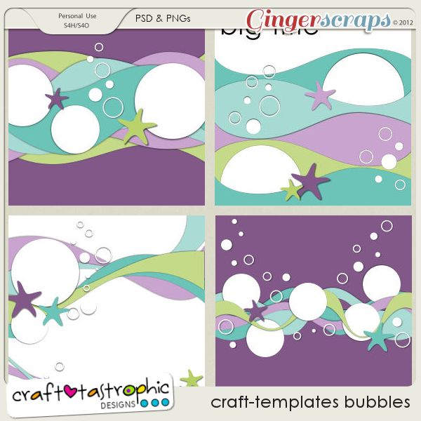 GingerScraps :: Templates :: Craft-Templates Bubbles