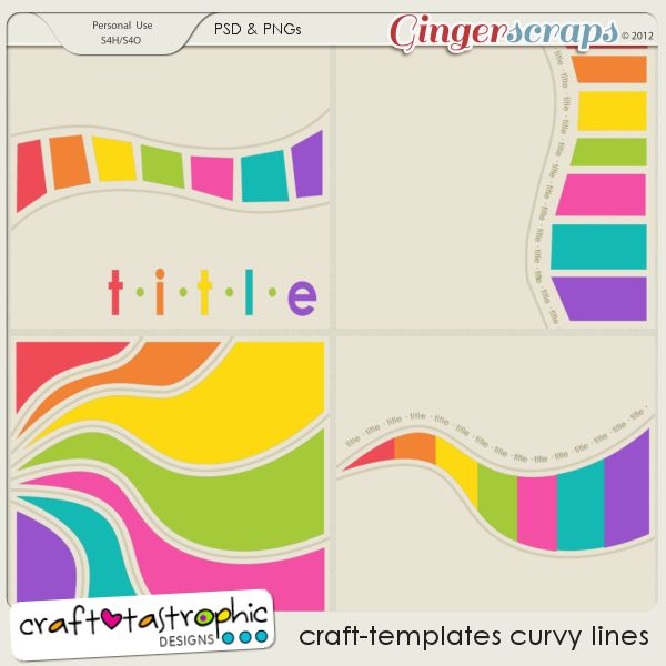 Craft-Templates Curvy Lines