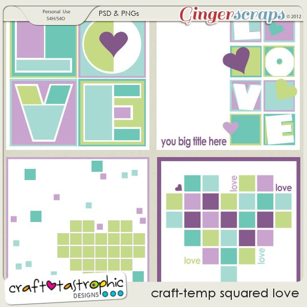 Craft-Templates Squared Love