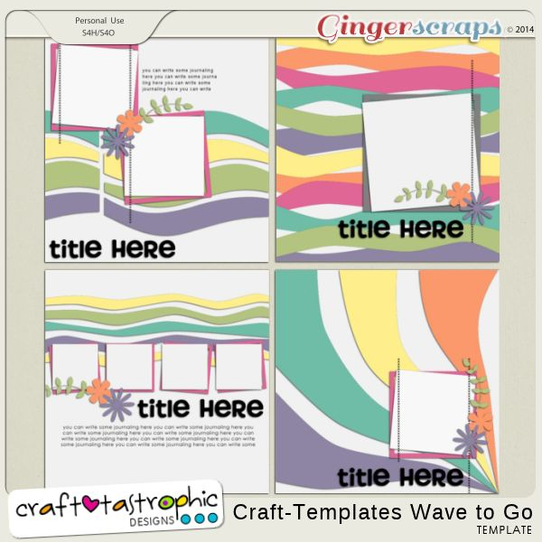 Craft-Templates Wave to Go