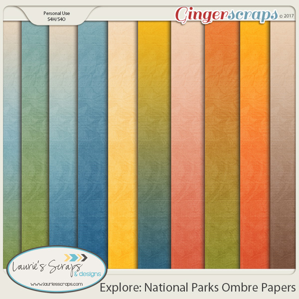 Explore: National Parks Ombre Papers