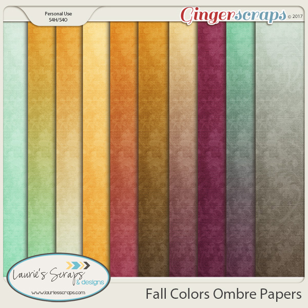 Fall Colors Ombre Papers