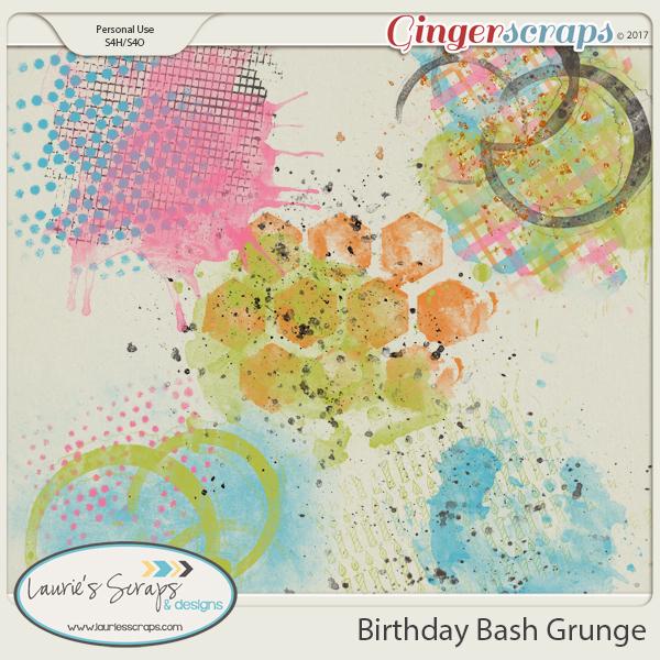Birthday Bash Grunge