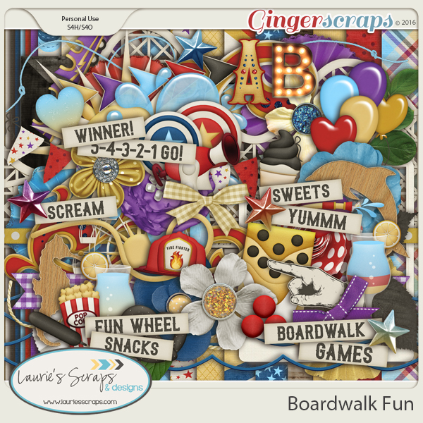 Boardwalk Fun Page Kit