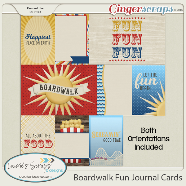 Boardwalk Fun Journal Cards