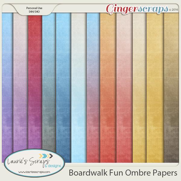 Boardwalk Fun Ombre Papers