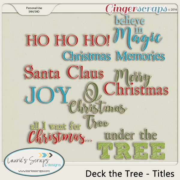 Deck The Tree - Titles