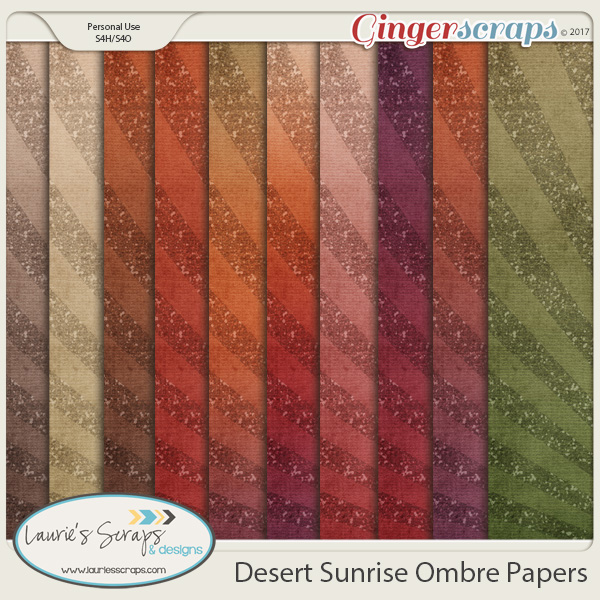 Desert Sunrise Ombre Papers