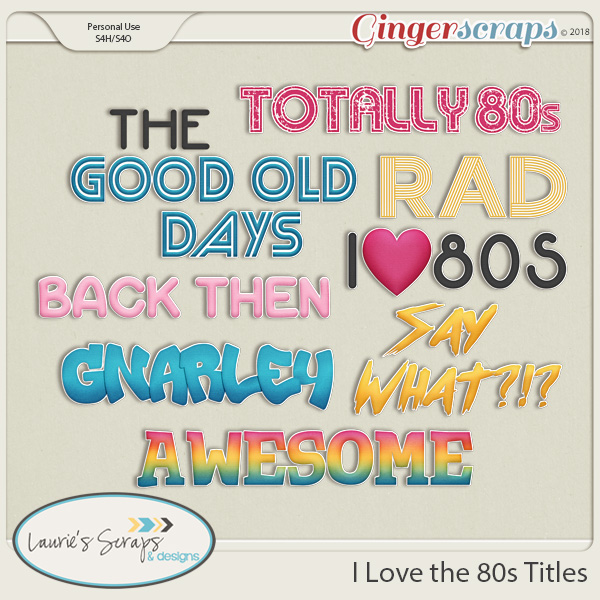 I Love the 80s Titles