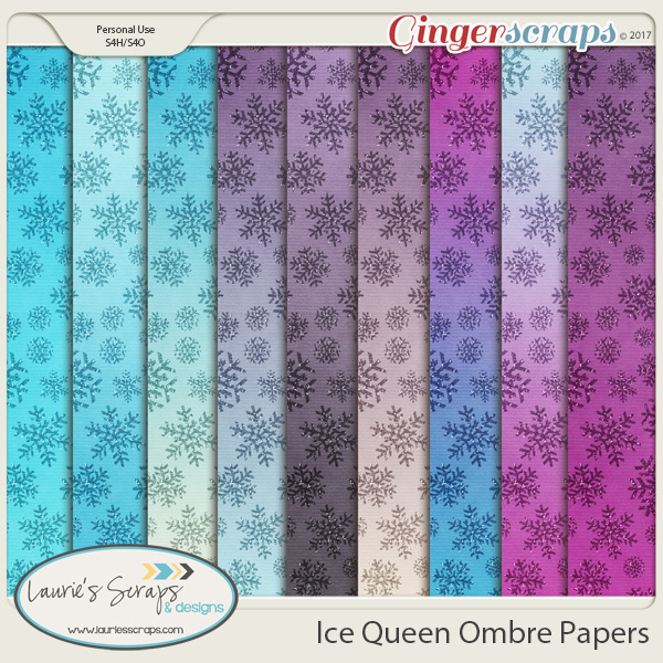 Ice Queen Ombre Papers
