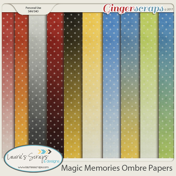 Magic Memories Ombre Papers