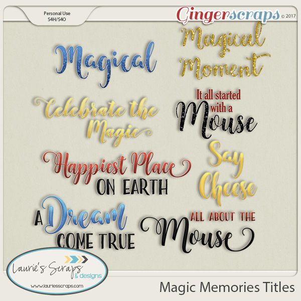 Magic Memories Titles