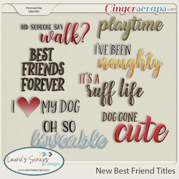 New Best Friend Titles