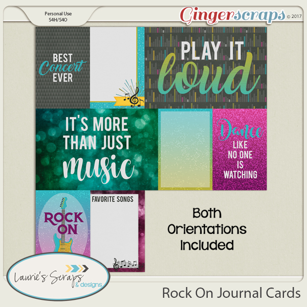 Rock On Journal Cards