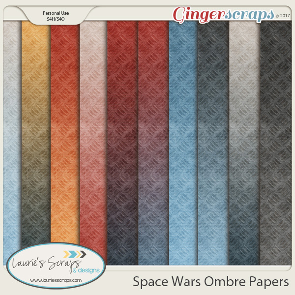 Space Wars Ombre Papers
