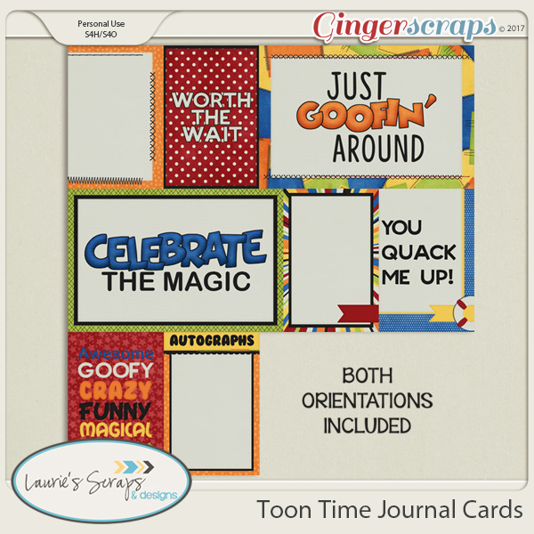 Toon Time Journal Cards