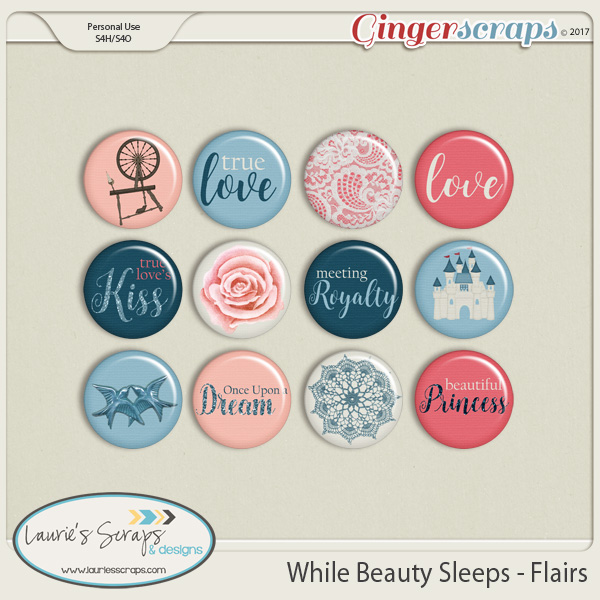 While Beauty Sleeps Flairs