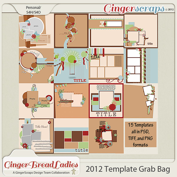 NSD 2012 Template Grab Bag: By the Gingerscraps Designers