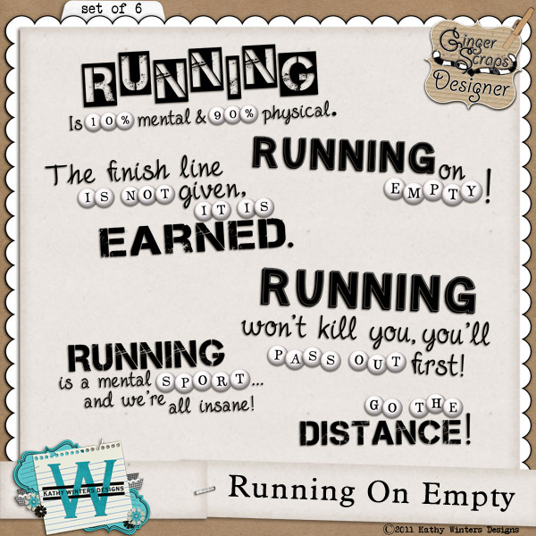 Running On Empty by Kathy Winters Designs