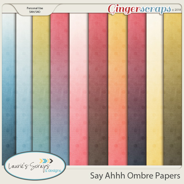 Say Ahhh Ombre Papers