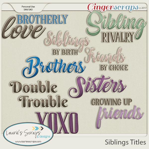 Siblings Titles