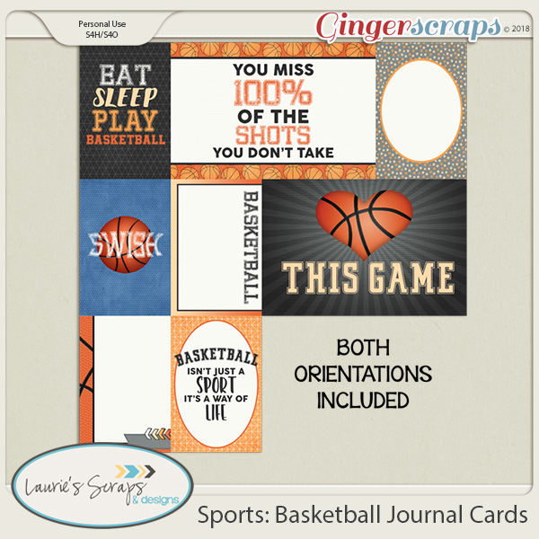 Sports: Basketball Journal Cards
