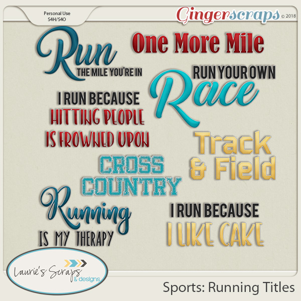 Sports: Running Titles