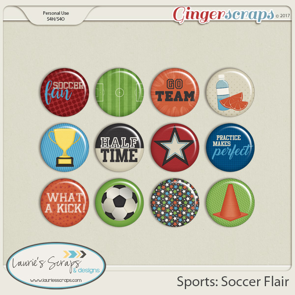Sports: Soccer Flairs