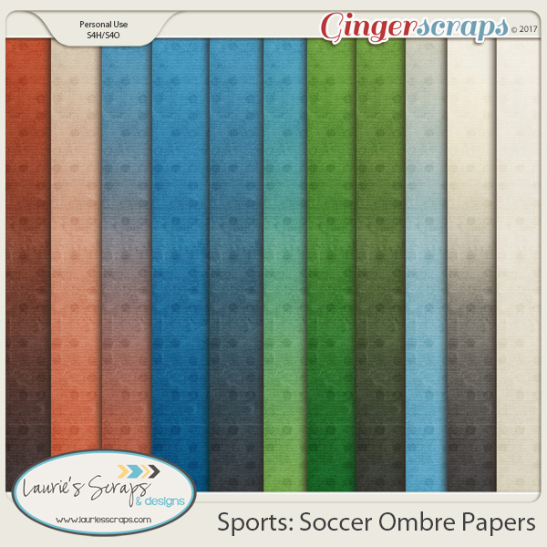 Sports: Soccer Ombre Papers