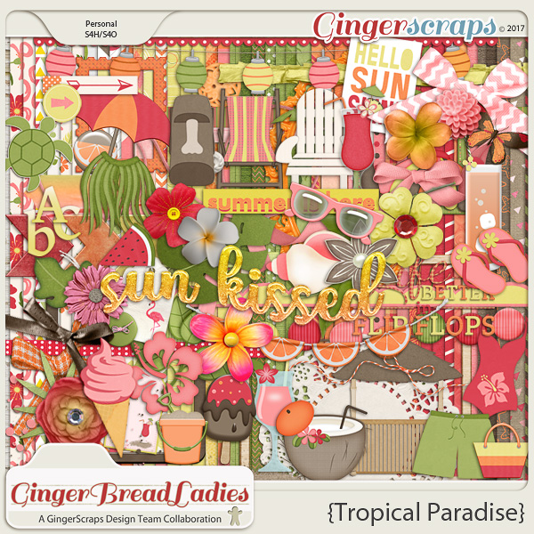 GingerBread Ladies Collab: Tropical Paradise