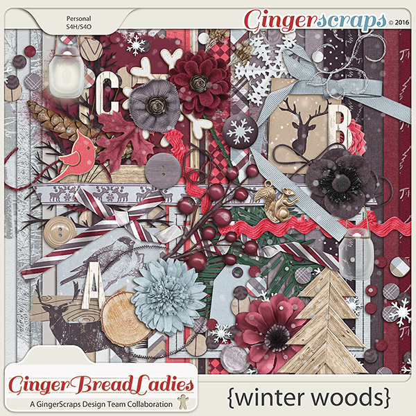 GingerBread Ladies Collab: Winter Woods