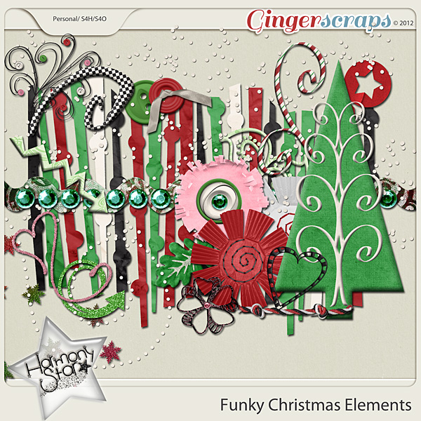 Funky Christmas Elements by Harmonystar