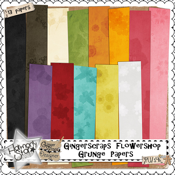 GingerScraps Flowershop - Grunge Papers