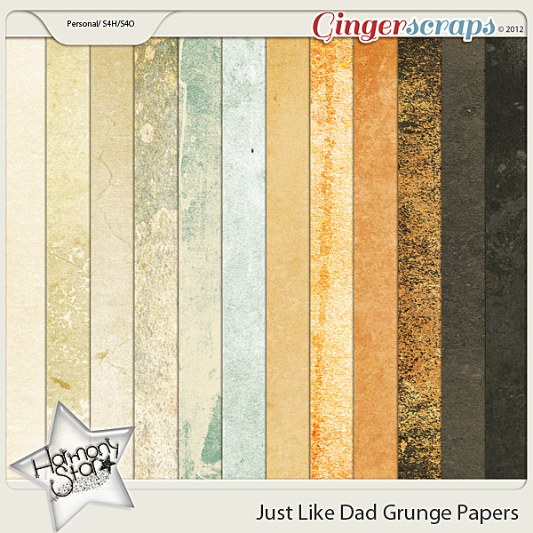 Just Like Dad Grunge Papers by Harmonystar