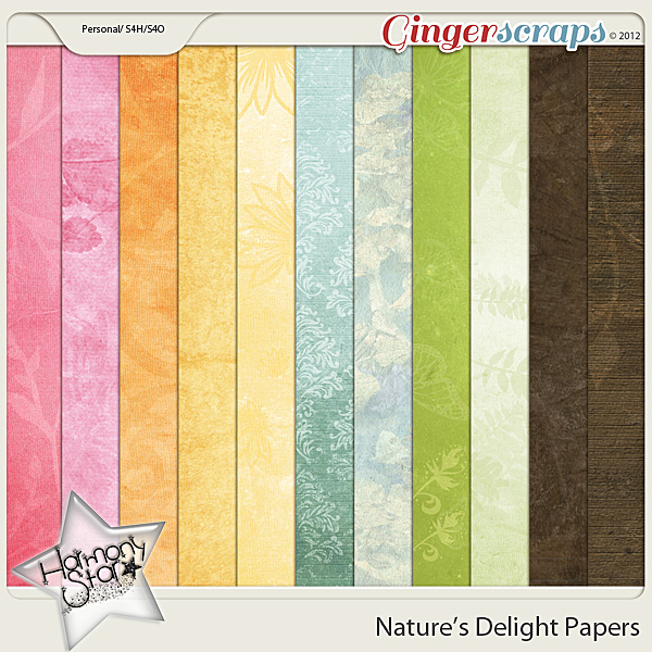 Nature's Delight Papers by Harmonystar
