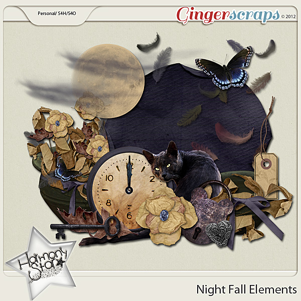 Night Fall Elements by Harmonystar