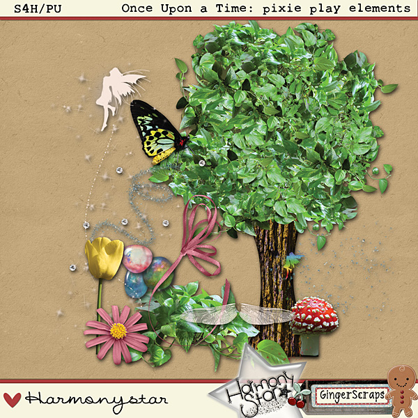 Once Upon A Time: pixie play elements