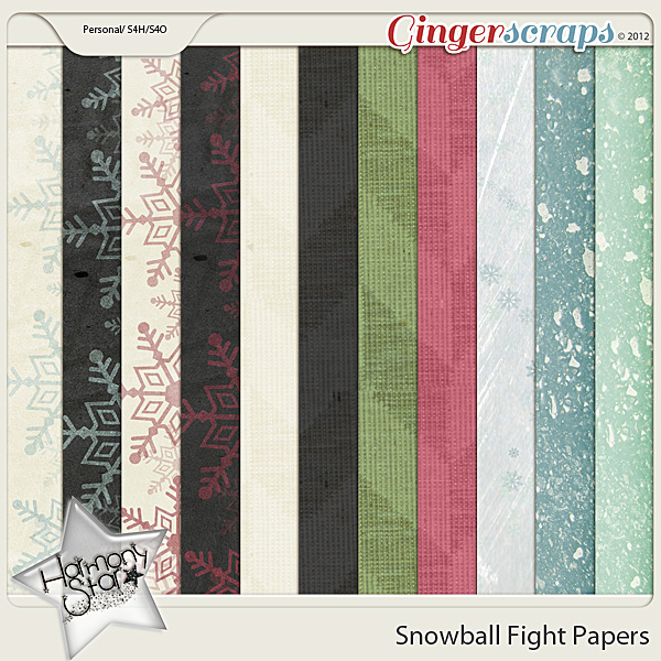 Snowball Fight Papers by Harmonystar